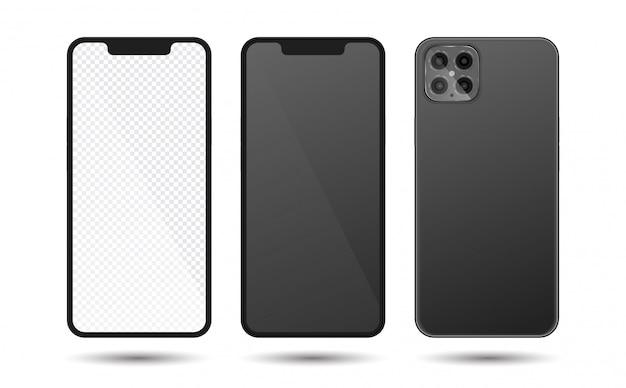 Realistisch smartphonemodel, telefoon x, telefoon 12. gsm-frame met leeg scherm. mobiel apparaat concept