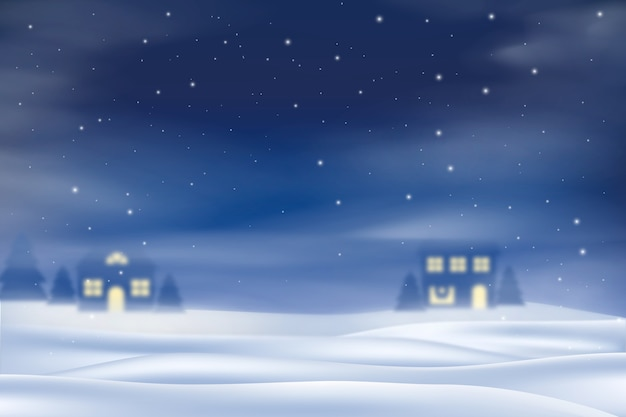 Realistisch sneeuwval behang