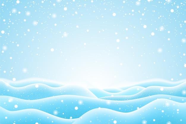 Realistisch sneeuwval behangontwerp