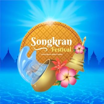 Realistisch songkran-concept