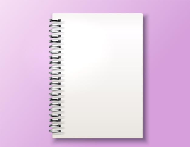 Realistisch spiraalvormig notitieboekje