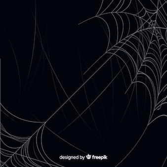 Realistisch spookachtig spinneweb