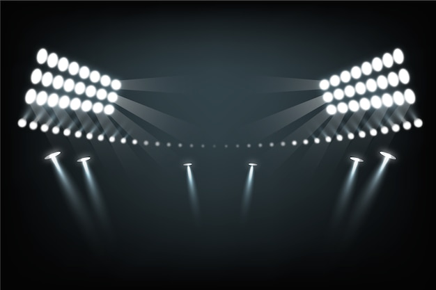 Realistisch stadionlichteffect