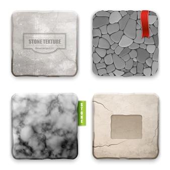 Realistisch steentextuur ontwerpconcept