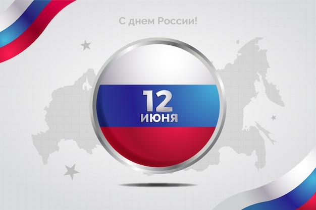 Realistisch stylerussia-dagevenement