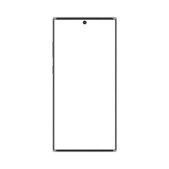 Realistisch trendy frameloos premium smartphonemodel met leeg scherm geïsoleerd. kan gebruikt worden voor elke projectpresentatie.