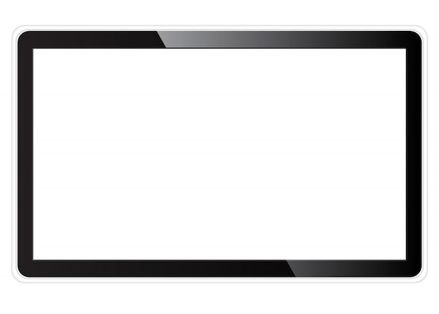 Realistisch tv-leeg scherm