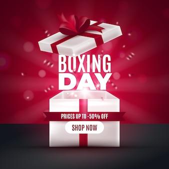 Realistisch tweede kerstdag verkoopconcept