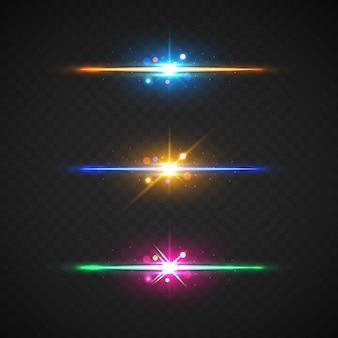 Realistisch uitknippad voor lensflare-elementen