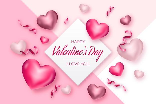Realistisch valentijnsdag achtergrondconcept