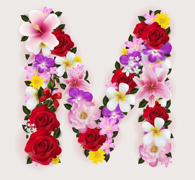 Realistisch van mooie bloem lettertype.