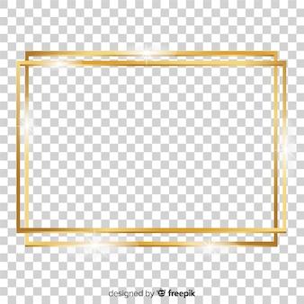 Realistisch vierkant gouden frame