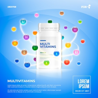 Realistisch vitaminecomplex pakket