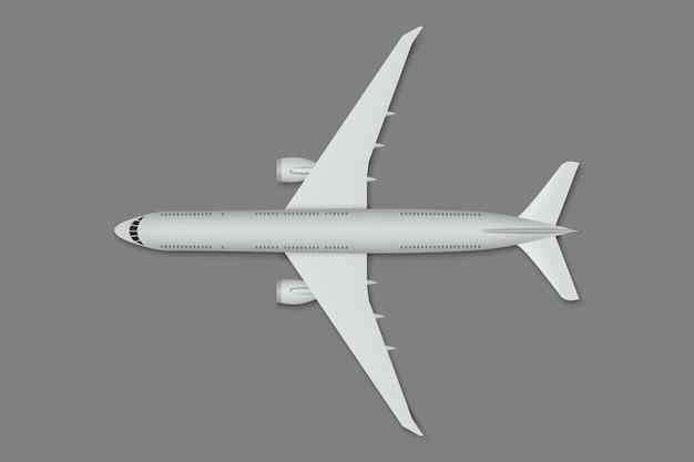 Realistisch vliegtuig geïsoleerd.
