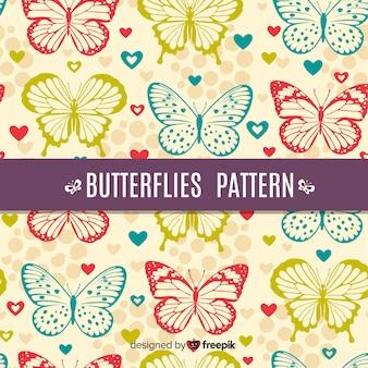 Realistisch vlinderpatroon