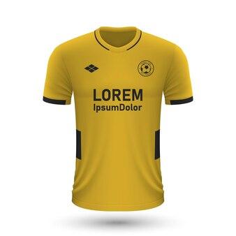 Realistisch voetbalshirt wolverhampton 2022, jersey sjabloon voor f