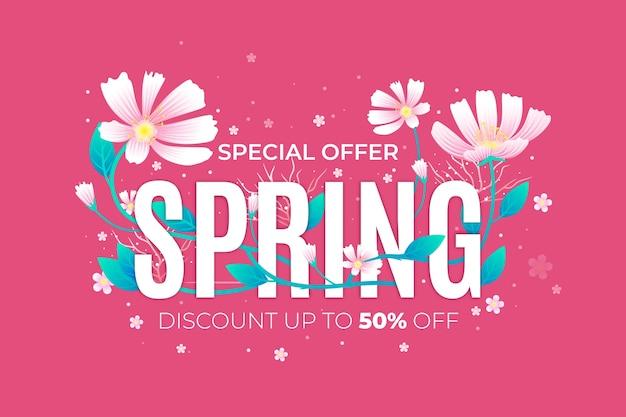 Realistisch voorjaar promotionele verkoop concept