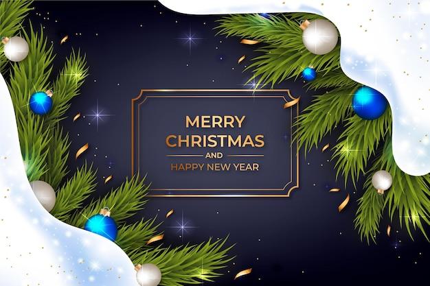 Realistisch vrolijk kerstmisthema als achtergrond