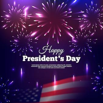 Realistisch vuurwerk voor de dag van de president