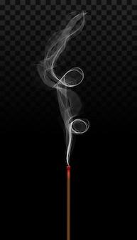 Realistisch wierookstokaroma met rook.