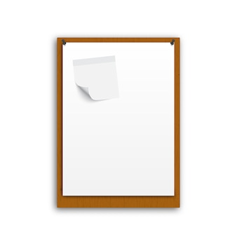 Realistisch wit papier
