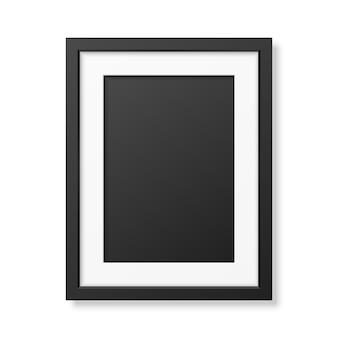 Realistisch zwart frame a4
