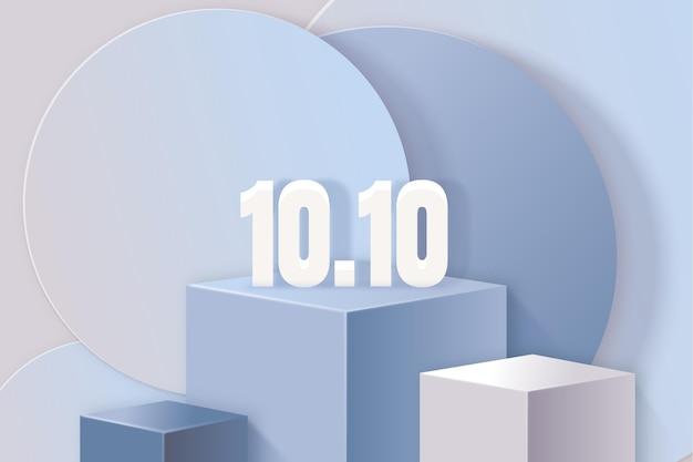 Realistische 10.10 achtergrond