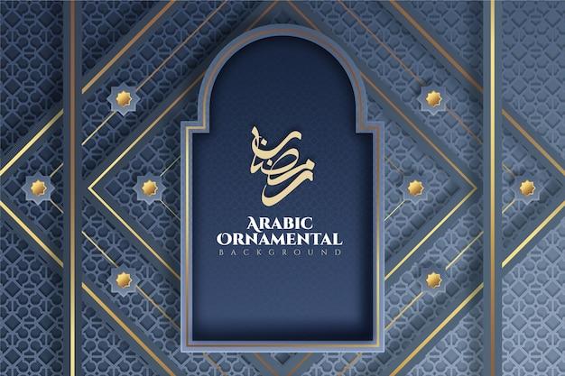 Realistische 3d-arabische decoratieve achtergrond