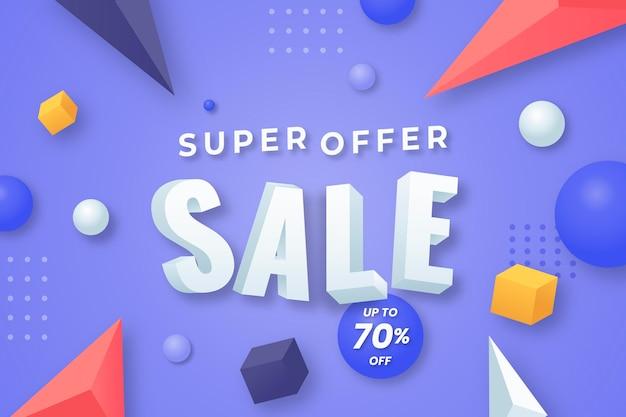 Realistische 3d-avondmaal aanbieding verkoop korting achtergrond