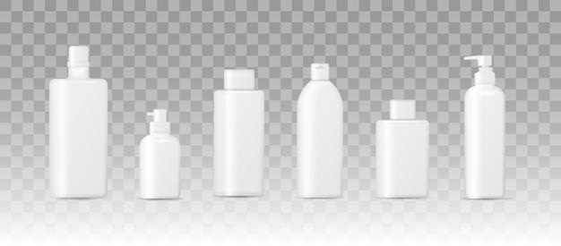 Realistische 3d-mockup van cosmetische verpakkingen