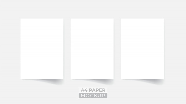Realistische 3d papieren flyer mockup