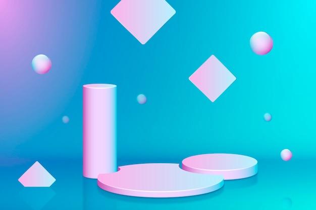 Realistische 3d-scèneachtergrond