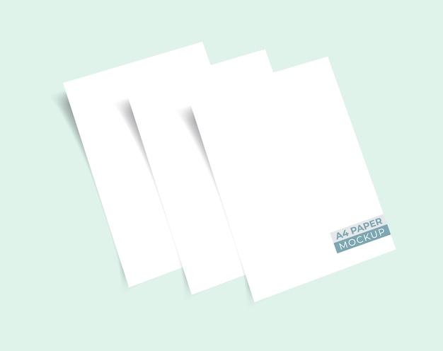 Realistische 3d-stapels papieren mockup