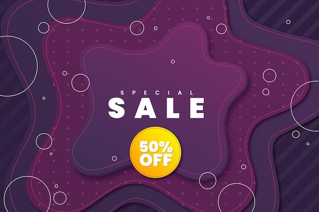 Realistische 3d verkoopachtergrond met speciale verkoopkorting