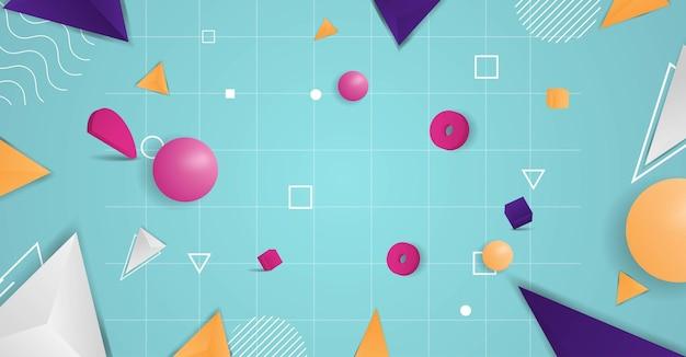 Realistische 3d vormen abstracte achtergrond vector