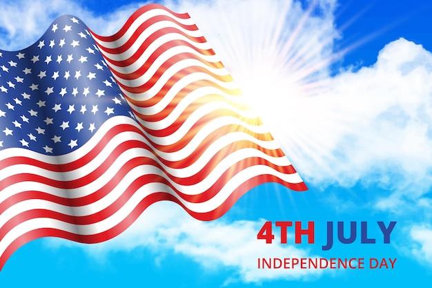 Realistische 4 juli onafhankelijkheidsdag illustratie
