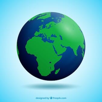 Realistische aarde wereldbol