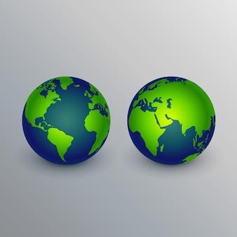 Realistische aardepictogrammen ondertekenen ontwerp