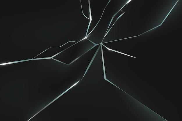 Realistische achtergrond met gebroken glaseffect
