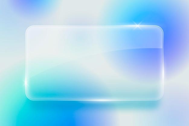 Realistische achtergrond met glaseffect