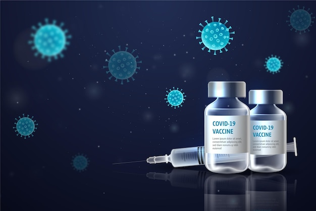Realistische achtergrond van het coronavirusvaccin