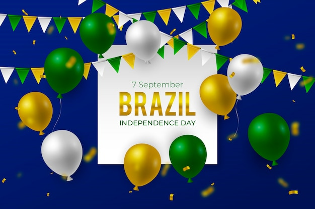 Realistische achtergrond voor onafhankelijkheidsdag van brazilië