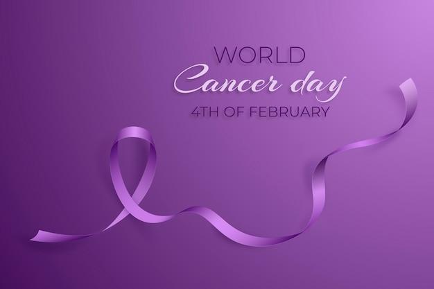 Realistische achtergrond werelddag voor kanker