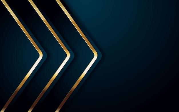 Realistische achtergrondkleur met gouden en blauw lichtontwerp