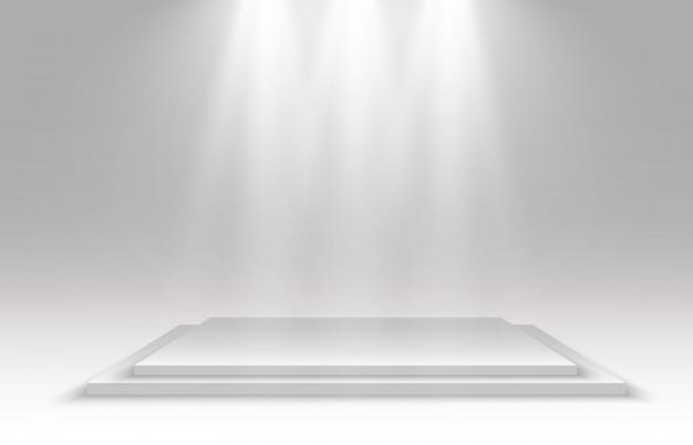 Realistische afbeelding van een 3d-platform op een transparante achtergrond. een plek om iets vast te stellen.