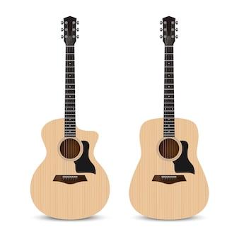 Realistische akoestische gitaar grote zaal en dreadnought vorm