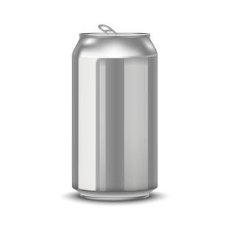 Realistische aluminium blikken