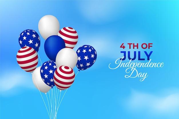 Realistische amerikaanse onafhankelijkheidsdag achtergrond