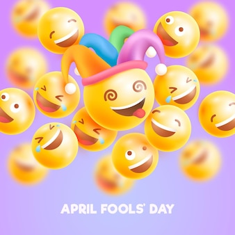 Realistische april dwazen dag illustratie