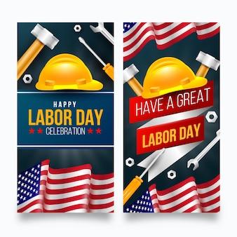 Realistische arbeidsdag vs banners
